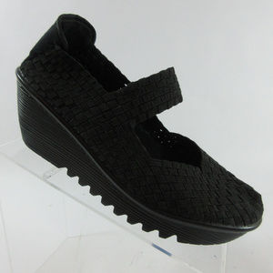 Bernie Mev Lulia Black Mary Jane Wedge
